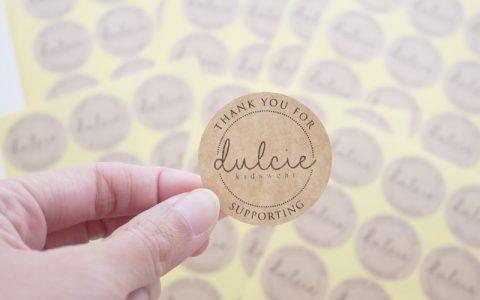 Cetak Sticker Kraft Murah Yogyakarta