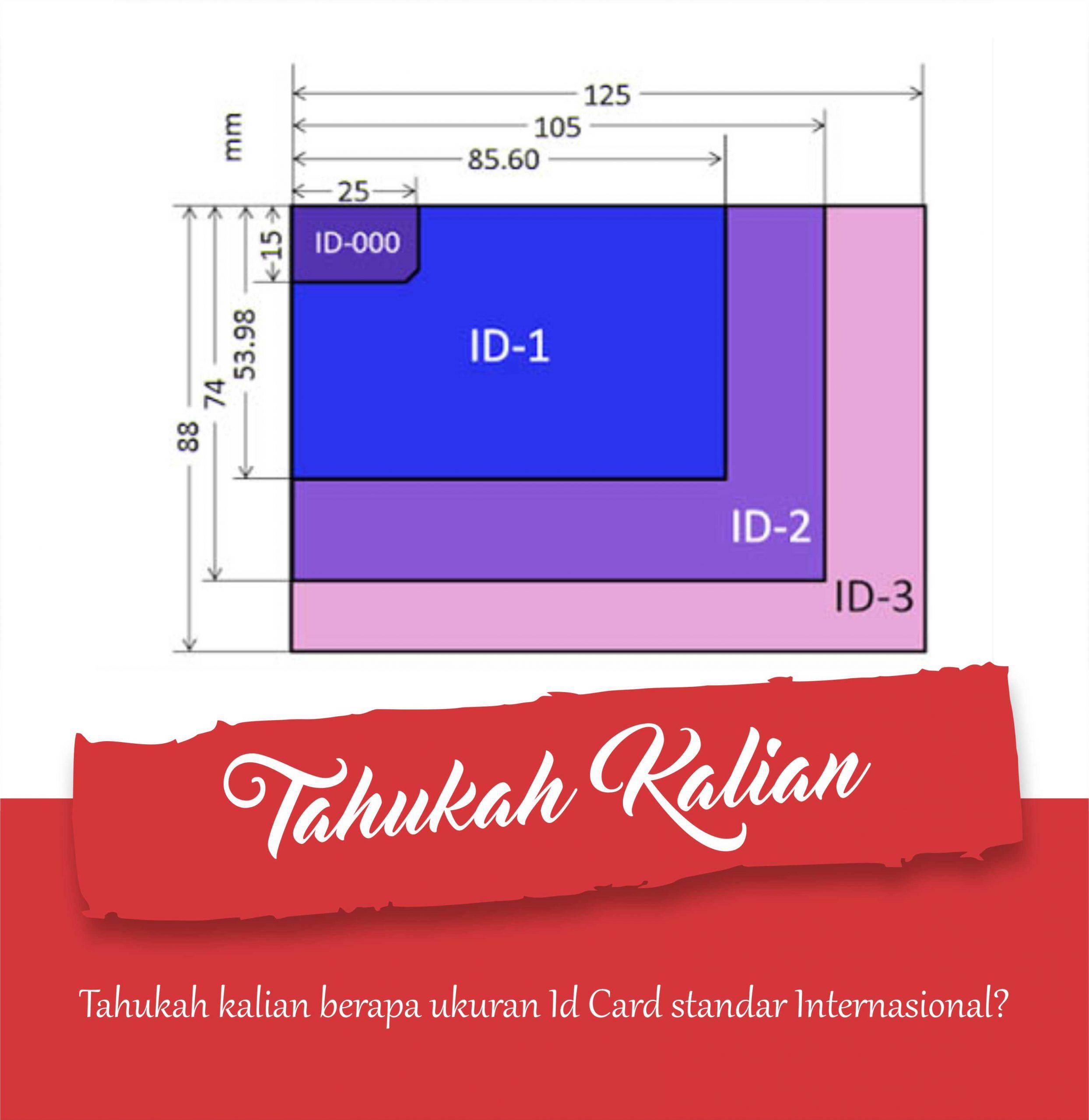 Ukuran ID Card Standar International