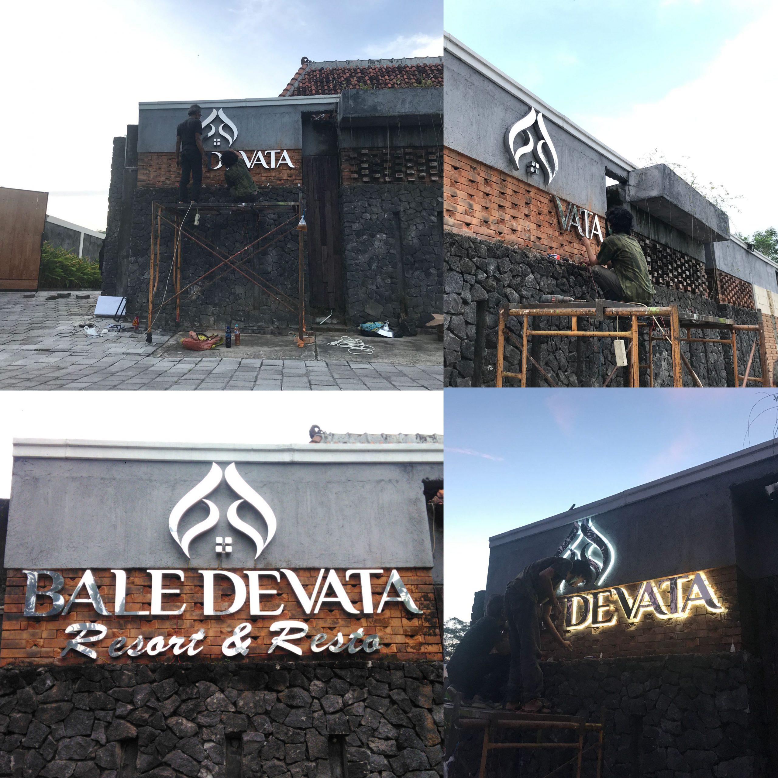 Huruf Timbul Bale Devata Yogyakarta