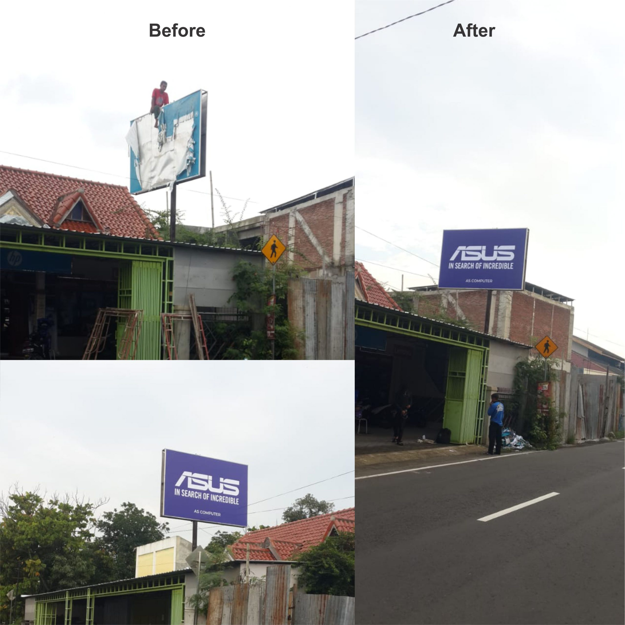 Recovery Visual Papan Nama