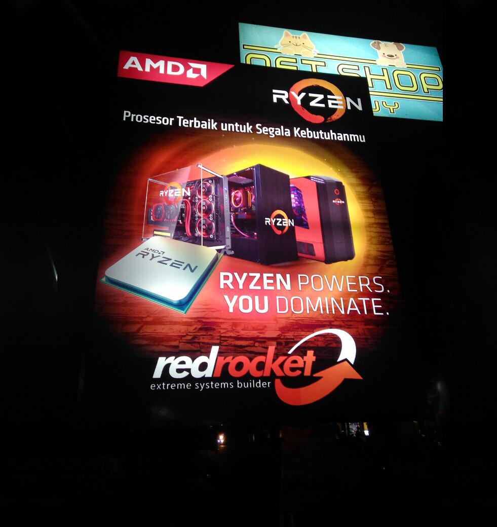 Neon box red rocket