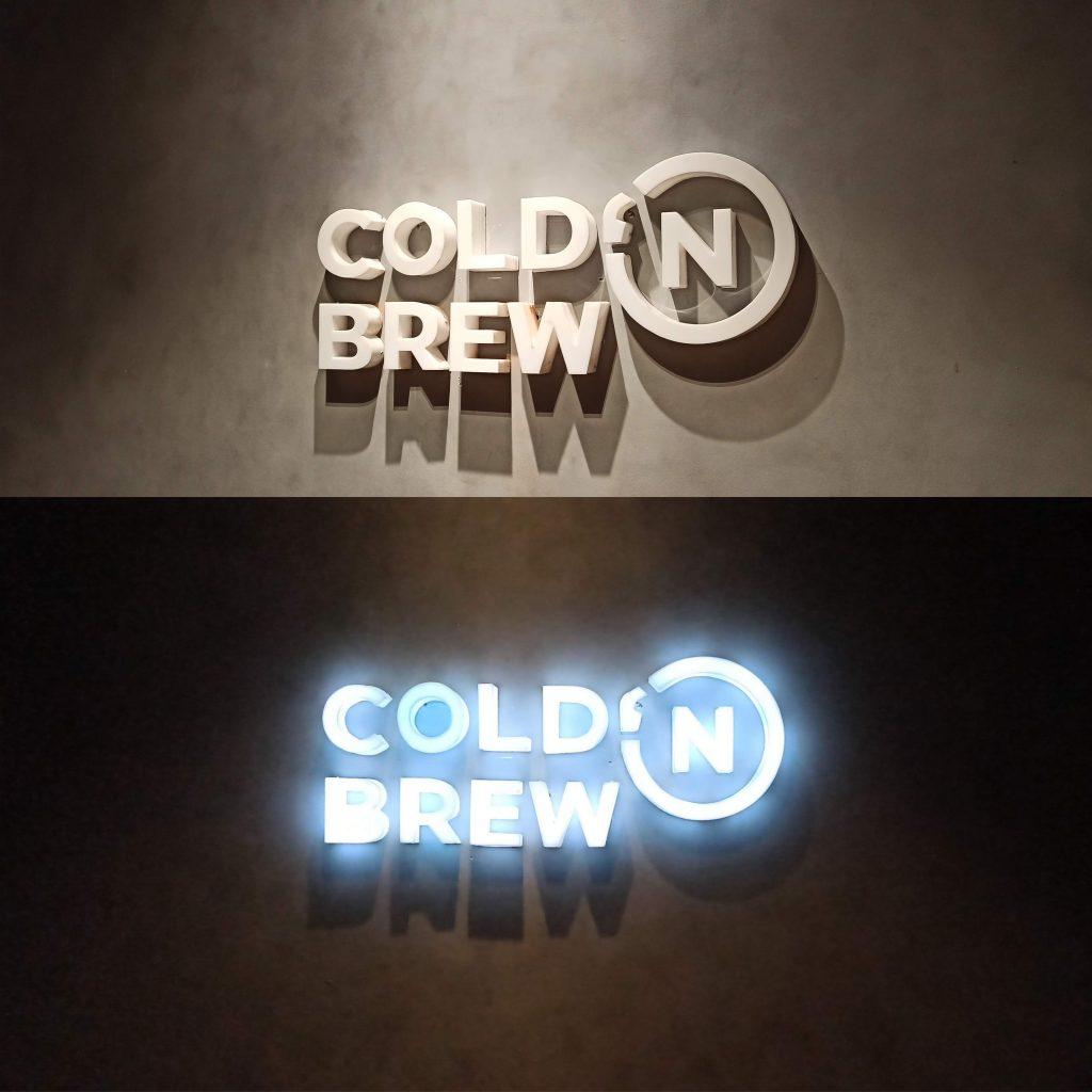 Huruf timbul Cold n Brew Klaten