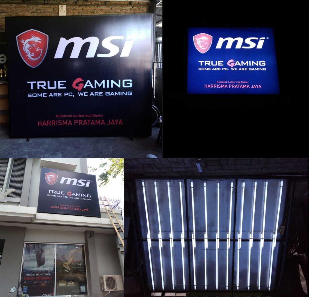 Neon Box MSI Harrisma Semarang
