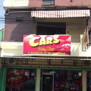 Papan Nama Cars Baby Shop Yogyakarta