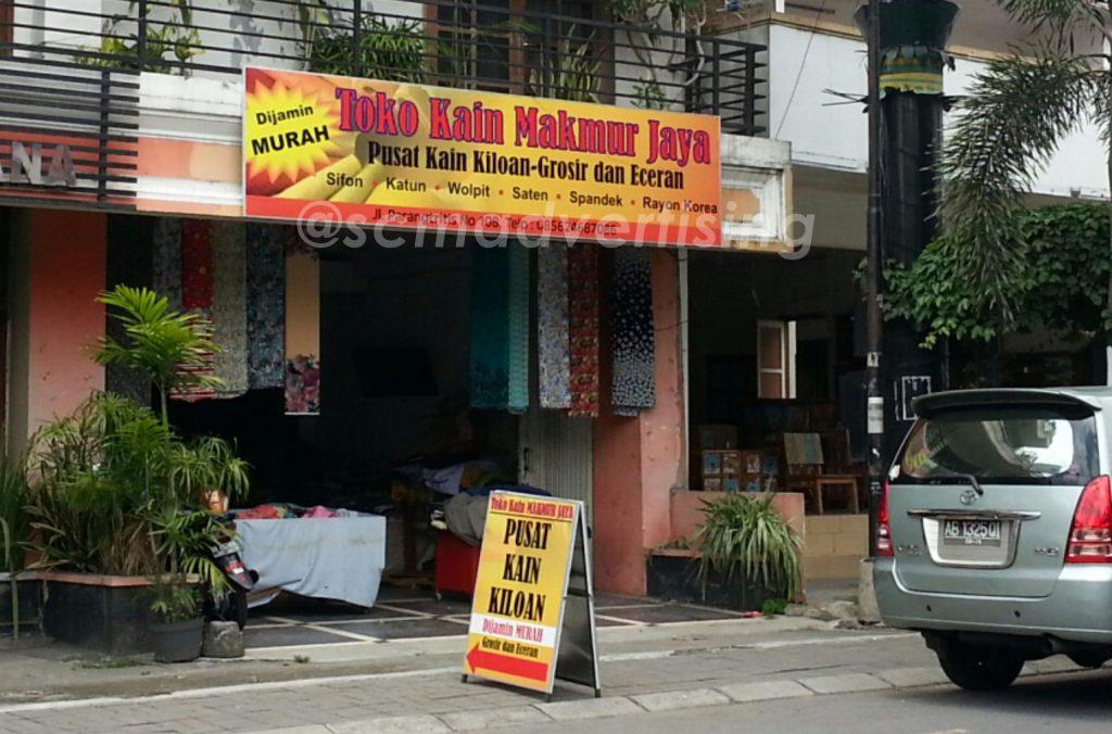 Papan Nama Toko Kain Makmur Jaya Yogyakarta